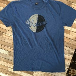 MENS VOLCOM GRAPHIC TEE XL BLUE WITH LOGO